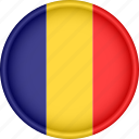 attribute, country, europe, european, flag, national, romania icon