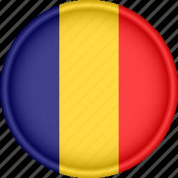 attribute, country, europe, european, flag, national, romania icon