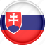 attribute, country, europe, european, flag, national, slovakia icon