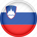 attribute, country, europe, european, flag, national, slovenia icon