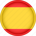 attribute, country, europe, european, flag, national, spain icon