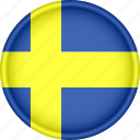 attribute, country, europe, european, flag, national, sweden icon