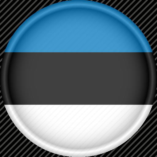 attribute, country, estonia, europe, european, flag, national icon