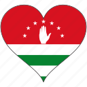 abkhazia, europe, european, flag, heart, love, national icon