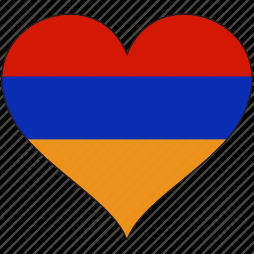 almenia, europe, european, flag, heart, love, national icon