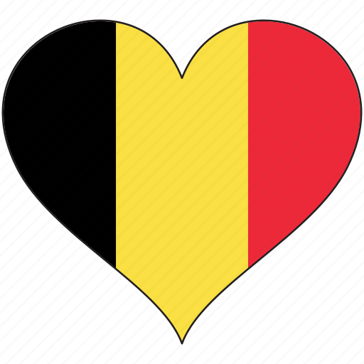 belgium, country, europe, european, flag, heart, love icon