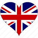 britain, england, europe, european, flag, heart, kingdom icon
