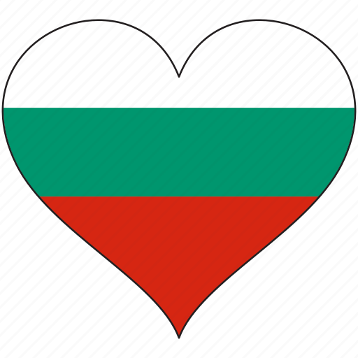 bulgaria, europe, european, flag, heart, love, national icon