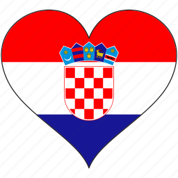 croatia, europe, european, flag, heart, love, national icon