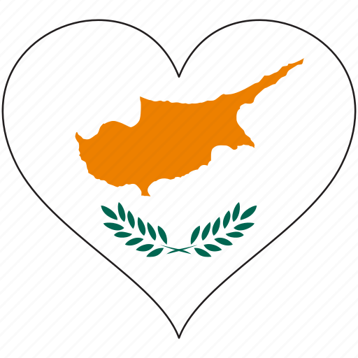 country, cyprus, europe, european, flag, heart, love icon