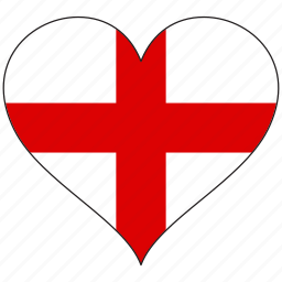 country, england, europe, european, flag, heart icon
