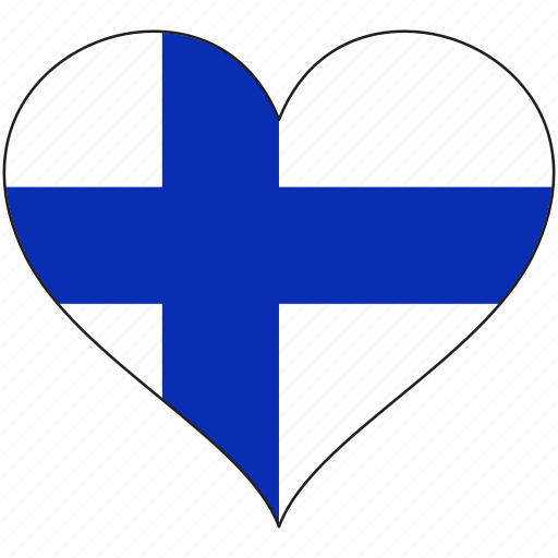 country, europe, european, finland, flag, heart icon
