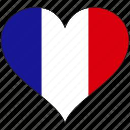 europe, european, flag, france, heart, love, national icon