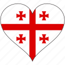 europe, european, flag, georgia, heart, love, national icon
