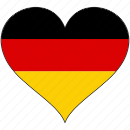 country, europe, european, flag, germany, heart, love icon