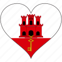country, europe, european, flag, gibraltar, heart icon