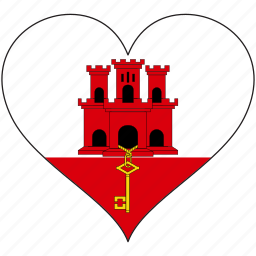 country, europe, european, flag, gibraltar, heart icon