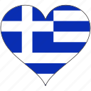 europe, european, flag, greece, heart icon