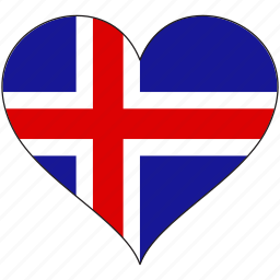 europe, european, flag, heart, iceland, national icon