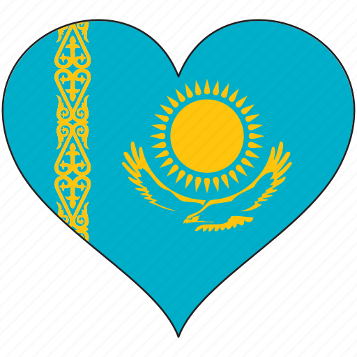 country, europe, european, flag, heart, kazakhstan, love icon