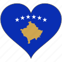europe, european, flag, heart, kosovo, love, national icon