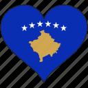 flag, heart, kosovo, europe, european, love, national