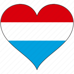 europe, european, flag, heart, love, luxembourg, national icon