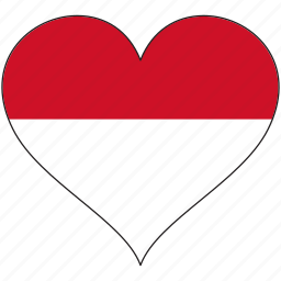 europe, european, flag, heart, love, monaco, national icon