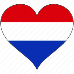 europe, european, flag, heart, netherlands icon