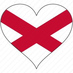 country, europe, european, flag, heart, ireland, northen icon