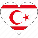 cyprus, europe, european, flag, heart, national, northern icon