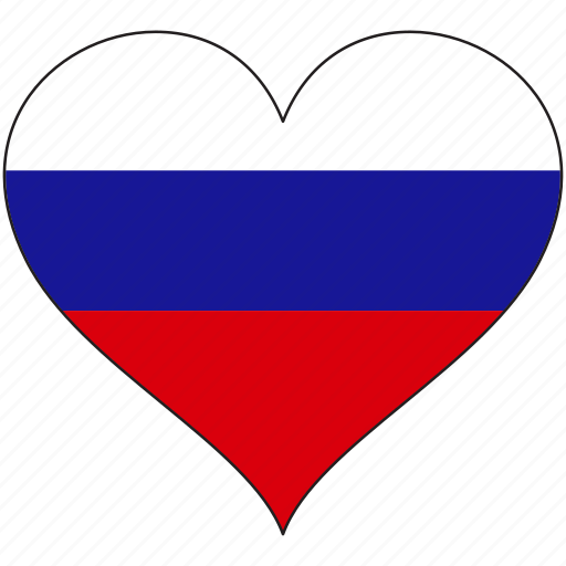 europe, european, flag, heart, national, russian icon