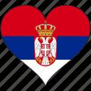 flag, heart, serbia, europe, european, country, love