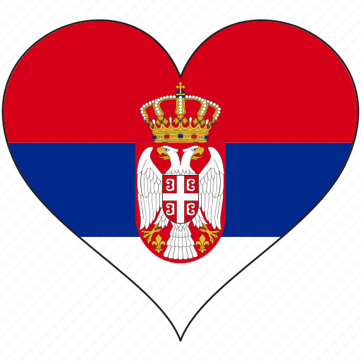 country, europe, european, flag, heart, love, serbia icon