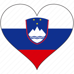 europe, european, flag, heart, slovenia icon
