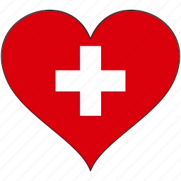 country, europe, european, flag, heart, love, switzerland icon