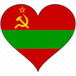 country, europe, european, flag, heart, love, transnistria icon