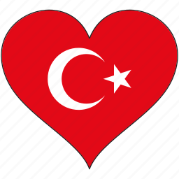 country, europe, european, flag, heart, love, turkey icon
