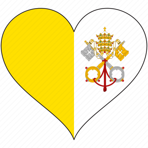 country, europe, european, flag, heart, love, vatican icon