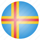 aland, country, european, flag, national icon