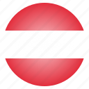 austria, austrian, country, european, flag, national icon