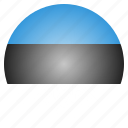 country, estonia, estonian, european, flag, national icon