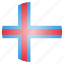 country, european, faroe, flag, islands icon