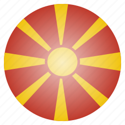 country, european, flag, macedonia, national icon