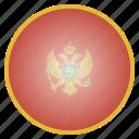country, flag, montenegro, national, european