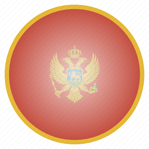 country, european, flag, montenegro, national icon