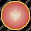 country, european, flag, montenegro, national icon