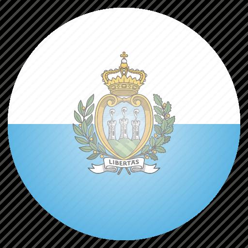 country, european, flag, marino, national, san icon