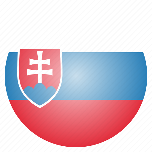 country, european, flag, national, slovakia, slovakian icon