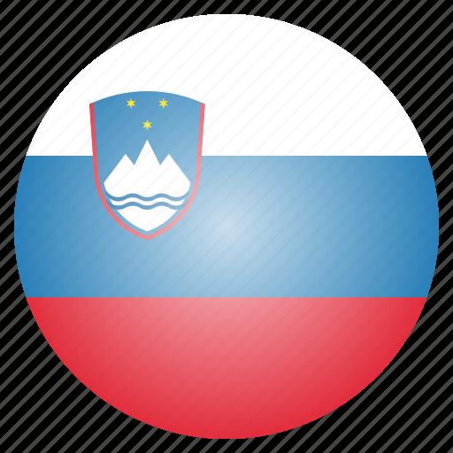 country, european, flag, national, slovenia, slovenian icon